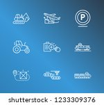 logistics icon set and digger...