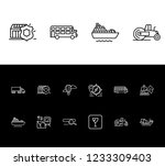 delivery icon set and double...