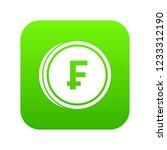 franc coins icon digital green... | Shutterstock . vector #1233312190