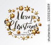 merry christmas calligraphic... | Shutterstock .eps vector #1233312859