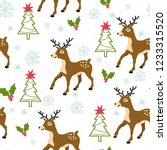 christmas seamless pattern with ... | Shutterstock .eps vector #1233315520