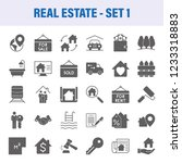 real estate set of vector icons ... | Shutterstock .eps vector #1233318883