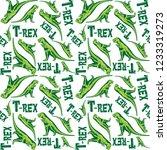 tyrannosaurus rex dinosaur... | Shutterstock .eps vector #1233319273