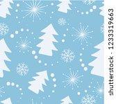 christmas seamless background... | Shutterstock .eps vector #1233319663