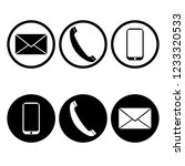communication symbol icons  on... | Shutterstock . vector #1233320533