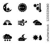 wintertime icons set. simple...   Shutterstock . vector #1233320680