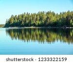 reflection of the coastline in ... | Shutterstock . vector #1233322159