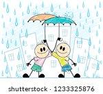 vector illustration of two boys ...   Shutterstock .eps vector #1233325876