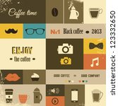 coffee design set | Shutterstock .eps vector #123332650
