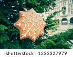 christmas ornaments in budapest ...   Shutterstock . vector #1233327979