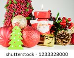 close up of glittery christmas...   Shutterstock . vector #1233328000