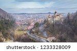 the medieval castle of bran... | Shutterstock . vector #1233328009
