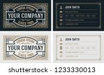vintage  and luxury business... | Shutterstock .eps vector #1233330013
