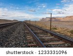 Train Rail Heading Into The...