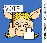 emoji with blonde stump orator... | Shutterstock .eps vector #1233334576