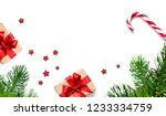 christmas composition.... | Shutterstock . vector #1233334759
