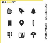 ui icons set with pencil ...