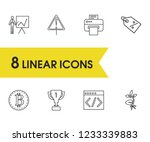 package icons set with reward ...