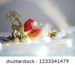 Golden Reindeer   Santa Hat And ...