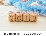 gift christmas digits 2019 made ... | Shutterstock . vector #1233346999