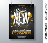 happy new year party... | Shutterstock .eps vector #1233349240
