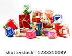 selective focus picture of gift ...   Shutterstock . vector #1233350089