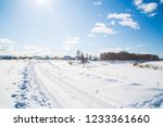 winter landscape. countryside.... | Shutterstock . vector #1233361660