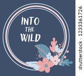 floral card wedding invitation  ... | Shutterstock . vector #1233361726