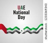 united arab emirates day vector ...   Shutterstock .eps vector #1233369343