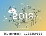 infographic concept  2019  ... | Shutterstock .eps vector #1233369913