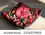 Red And Green Potpourri In Bowl