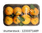 mandarine package isolated on a ... | Shutterstock . vector #1233371689