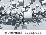 a titanium cubes abstract... | Shutterstock . vector #123337186
