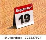 3d Calendar Standing On Desk  ...
