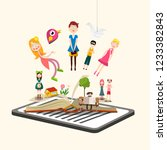 story characters on book. e... | Shutterstock .eps vector #1233382843