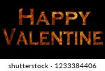 abstract flames happy valentine ... | Shutterstock . vector #1233384406
