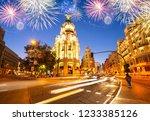 night in madrid  spain | Shutterstock . vector #1233385126