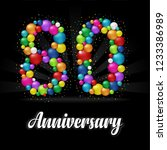80 years anniversary colorful... | Shutterstock .eps vector #1233386989