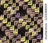 seamless pattern patchwork... | Shutterstock . vector #1233388009