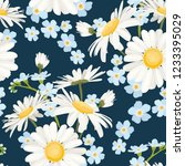 daisy chamomile and forget me... | Shutterstock .eps vector #1233395029
