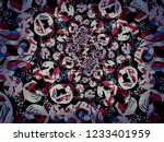 a hand drawing pattern made of...   Shutterstock . vector #1233401959