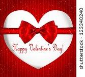 valentine's day card valentine...   Shutterstock .eps vector #123340240
