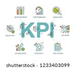 key performance indicators kpi... | Shutterstock .eps vector #1233403099