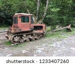 old broken tractor   Shutterstock . vector #1233407260