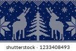 christmas seamless pattern...   Shutterstock .eps vector #1233408493