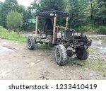 handmade wooden car   Shutterstock . vector #1233410419