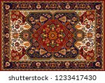 persian carpet  tribal vector... | Shutterstock .eps vector #1233417430