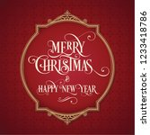 merry christmas and happy new... | Shutterstock .eps vector #1233418786