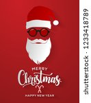 merry christmas and happy new... | Shutterstock .eps vector #1233418789