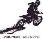 motocross dirt rider | Shutterstock .eps vector #1233423940